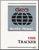 1990 Geo Tracker Factory Service Manual with Electrical Diagnosis Supplement Manual (SKU: ST37790)
