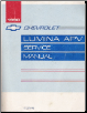 1990 Chevrolet Lumina APV Minivan Factory Service Manual (SKU: ST37890)