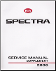 2006 Kia Spectra Factory Service Manual Supplement (SKU: UD060PS010)