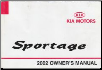 2002 Kia Sportage Owners Manual (SKU: UP020PS013)