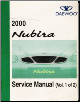 2000 Daewoo Nubira Factory Service Manual 2 Volume Set (SKU: UPJ000800)