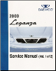 2000 Daewoo Leganza Factory Service Manual - 2 Volume Set (SKU: UPV000800)