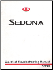 2002 Kia Sedona Factory Electrical Troubleshooting Manual (SKU: UV020PS011)