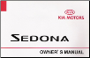 2002 Kia Sedona Owner's Manual (SKU: UV020PS013)