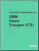 1998 Isuzu Trooper (UX) Driveability and Emissions Manual (SKU: UX098WSMLS1)