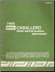 1982 Chevrolet, GMC Caballero & El Camino Truck Service Manual Supplement (SKU: X8231A)