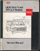 1989 Chevrolet GMC Light Duty Truck Factory Service Manual - R/V, G & P Models (SKU: X8932)