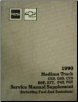 1989 - 1990 Chevrolet, GMC Medium Duty Truck Service Manual Supplement (SKU: X9034)