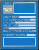 1992 GMC Truck LIght Duty Forwared Control Chassis, Value Van, and Motor Home Service Manual (SKU: X9232)