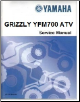 2007 – 2008 Yamaha YFM700 Grizzly Factory Service Repair Manual (SKU: LIT11616GZ70)