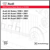 1996 - 2002  Audi A4/S4 Official Factory Repair Manual on CD-ROM (SKU: BENTLEY-AB55)