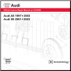 1997 - 2003 Audi Official Factory Repair Manual on DVD-ROM A8: 1997 - 2003, S8: 2001 - 2003 (SKU: BENTLEY-AD25D)
