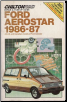 1986 - 1987 Ford Aerostar Chilton's Repair & Tune Up Guide (SKU: 0801977479)