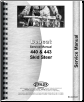 Bobcat 440, 443 Skid Steer Service Manual (SKU: BC-S-440-443)