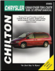 1996 - 2002 Chrysler Town & Country, Dodge Caravan, Grand Caravan, Plymouth Voyager & Grand Voyager, Chilton's Total Car Care Manual (SKU: 1563925605)