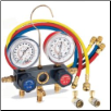 FJC R134a Aluminum Manifold Gauge w/ 72in Hoses & Quick Couplers (SKU: FJC6761)