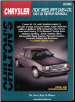 1981 - 1995 All Chrysler, Dodge & Plymouth, Eagle 4 Cylinder Front Wheel Drive Cars Chilton's Total Car Care Manual (SKU: 0801986737)