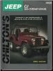 1945 - 1970 Jeep CJ Chilton's Total Car Care Manual (SKU: 0801989760)