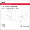 2000 - 2006 Audi TT Coupe, 2001 - 2006 Audi TT Roadster, Official Factory Repair Manual on DVD-ROM (SKU: BENTLEY-ATT6)