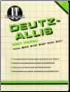 Deutz-Allis I&T Tractor Service Manual D-1 (SKU: D1-0872884198)