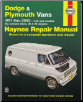 1971 - 2003 Dodge & Plymouth Vans, Haynes Repair Manual (SKU: 1563925044)