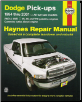 1994 - 2002 Dodge RAM Full Size Pick-Ups: 2 & 4WD, V6, V8, V10 & Cummins Diesel, Haynes Repair Manual (SKU: 1563924293)