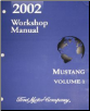 2002 Ford Mustang Factory Workshop Manual - 2 Volume Set (SKU: FCS12193021-2)