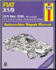 1974 - 1980 Fiat X1/9 Repair Manual (SKU: 0856967173)