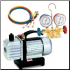 FJC 2.5 CFM Vacuum Pump with R134a Brass Manifold Gauge (SKU: FJC9280)