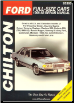 1968 - 1988 Ford & Mercury Full-Size Cars Chilton's Total Car Care Manual (SKU: 0801986656)