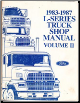 1983-1987 Ford L-Series Heavy Truck Factory Service Manual, Volume 2 (SKU: FPS365493-83-84-85-86-87)