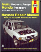 1989 - 2002 Isuzu Rodeo, Amigo and Honda Passport, Haynes Repair Manual (SKU: 1563924811)