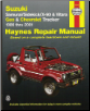 1986 - 2001 Suzuki Samuri, Sidekick, X-90 & Vitara and Geo/Chevrolet Tracker (4 Cylinder Models), Haynes Repair Manual (SKU: 1563924323)