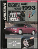 1989 - 1993 Chilton's Import Auto Repair Manual (SKU: 0801979102)