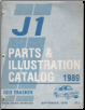 1989 GMC J1 Geo Tracker Parts and Illustration Catalog (SKU: LTTruck52J)