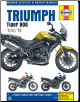2010 - 2014 Triumph Tiger 800/800XC Haynes Repair Manual (SKU: 9780857337528)