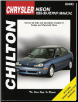 1995 - 1999 Dodge / Plymouth Neon Chilton's Total Car Care Manual (SKU: 080198971X)