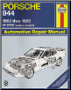 1983 - 1989 Porsche 944 Haynes Repair Manual (SKU: 1850106576)