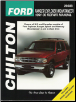 1991 - 1999 Ford Manual: Ranger, Explorer, Splash & Mercury Mountaineer Chilton's Total Car Care Manual (SKU: 0801991315)