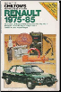 1975 - 1985 Renault Coupes, Sedans & Wagons  Chilton's Repair & Tune-Up Guide (SKU: 0801975611)
