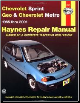 1985 - 2001 Chevrolet Sprint & Geo Metro, Haynes Repair Manual (SKU: 1563924536)