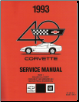 1993 Chevrolet Corvette Factory Service Manual - 2 Volume Set (SKU: ST36493-1-2)