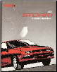 1992 Geo Storm Factory Service Manual (SKU: ST37192)