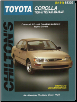 1988 - 1997 Toyota Corolla, Chilton's Total Car Care Manual (SKU: 0801988276)