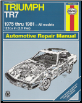 1975 - 1981 Triumph TR-7 Haynes Repair Manual (SKU: 085696848X)