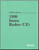 1998 Isuzu Rodeo (UE) Workshop Manual - 3 Volume Set (SKU: UE098WSML01)