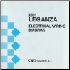 2001 Daewoo Leganza Electrical Wiring Diagrams (SKU: upv010801)