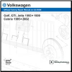 1995 - 2002 Volkswagen Cabrio; 1993 - 1999 Golf, GTI & Jetta Official Factory Repair Manual on CD-ROM (SKU: BENTLEY-VA35)