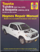 2007 - 2019 Toyota Tundra and 2008 - 2019 Toyota Sequoia Haynes Repair Manual (SKU: 162092367X)