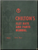 1952 - 1962 Chilton's Flat Rate and Parts Manual (SKU: 1962FLATRATE)